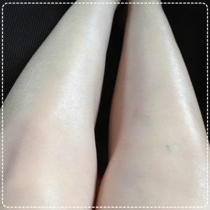足のツヤが出るクリーム